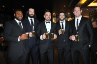 KEVIN NAIQAMA, AARON WOODS, DENE HALATAU, JAMES TEDESCO & PAT RICHARDS DALLY M AWARDS 2015 THE DARLING, THE STAR & STAR EVENT CENTRE, PYRMONT MONDAY 28TH SEPTEMBER, 2015 PHOTOGRAPHER: BELINDA ROLLAND © 2015